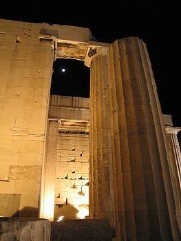 Acropolis captured moon 2 by Jelena Ignjatovic