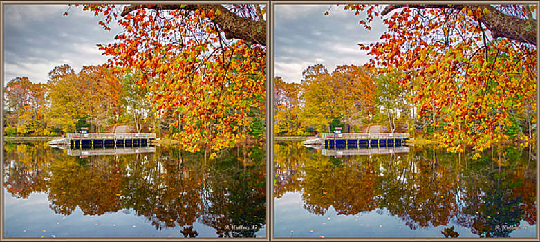 Across Lake Waterford - 3D Stereo X-View by Brian Wallace
