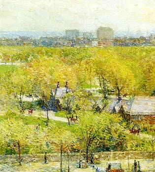 Across The Park by Hassam Childe