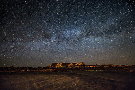 Across the Universe - Milky Way Galaxy Over Mesa in Arizona by Sean Ramsey