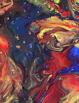 Acrylic Galaxy by Sarah Kuhlmann
