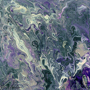 Acrylic Pour 29 by Bev Donohoe