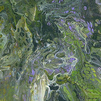 Acrylic Pour 31 by Bev Donohoe