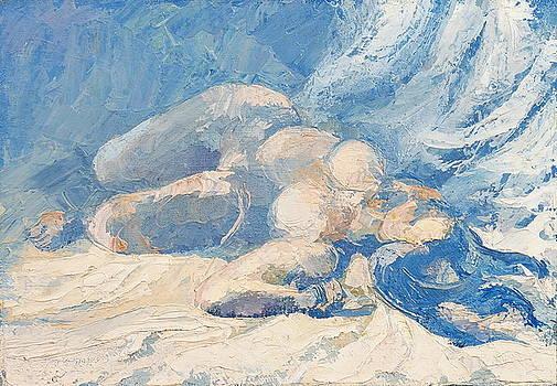 Act Blue Background by Sergey Zinovjev