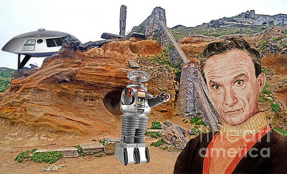 Actor Jonathan Harris As Dr Smith From Lost In Space II by Jim Fitzpatrick