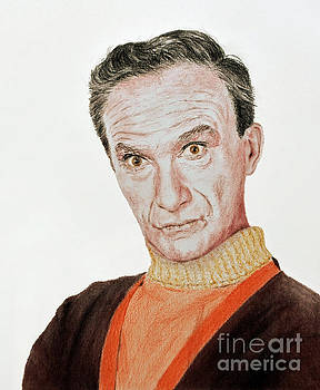 Actor Jonathan Harris As Dr Smith From Lost In Space by Jim Fitzpatrick
