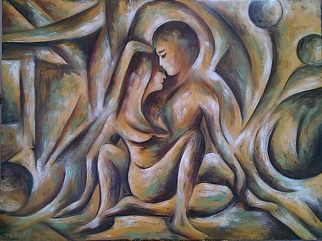 Adam and Eve by Irine Shotadze