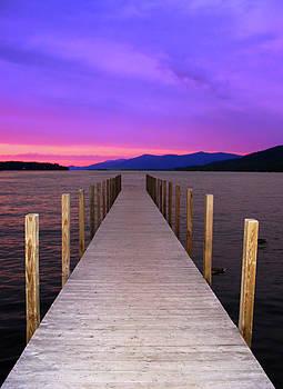 Adirondack Sundown over Lake George New York by Linda Ouellette