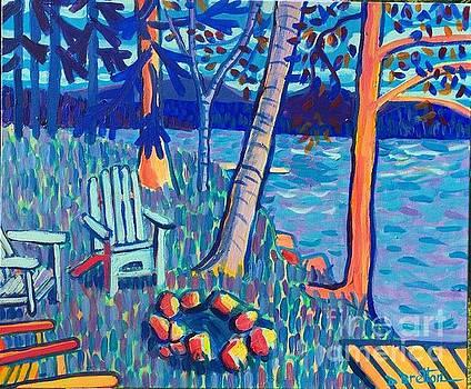 Adirondacks at Rangeley Lake by Debra Bretton Robinson
