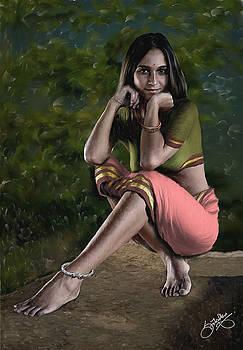 Adivasi Girl by Shreeharsha Kulkarni