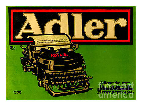 Adler Typewriter Ad from 1909 by Peter Ogden Collection