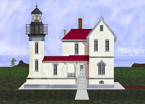 Admiralty Head Light Station Circa 1920 by Anne Norskog