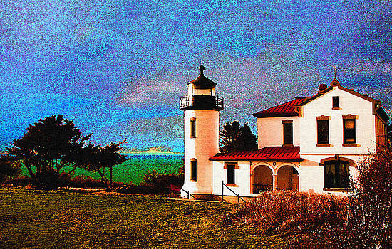 Admiralty Head Lighthouse DP15 by Mary Gaines