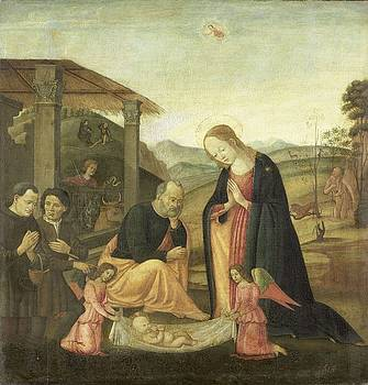 Adoration of the Christ Child  Jacopo del Sellaio  circle of 1485  1520 by R Muirhead Art