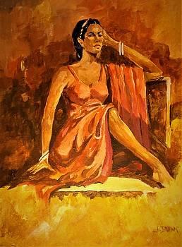 Adorned in Scarlet Drapery by Al Brown