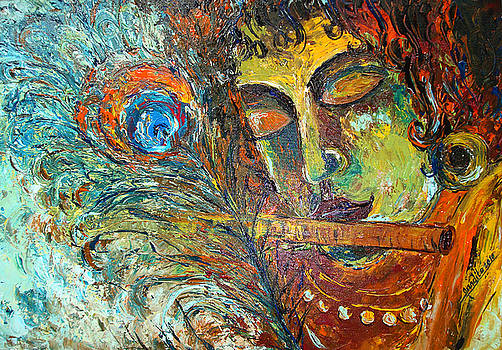 Adorning Krishna by Nandita  Richie