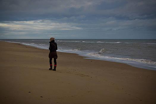 Adrianna at the beach by Alex Leonard