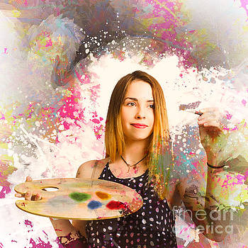 Adult art class painter by Jorgo Photography - Wall Art Gallery