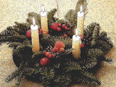 Advent Wreath by Mary Helmreich