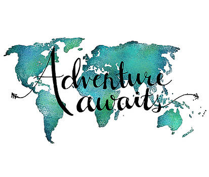 Adventure Awaits 21x25 by Michelle Eshleman