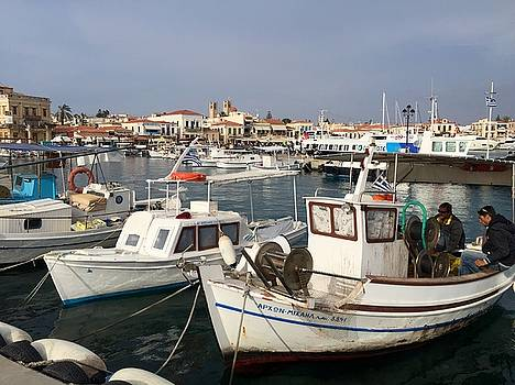 Aegina Boats by Leslie Brashear