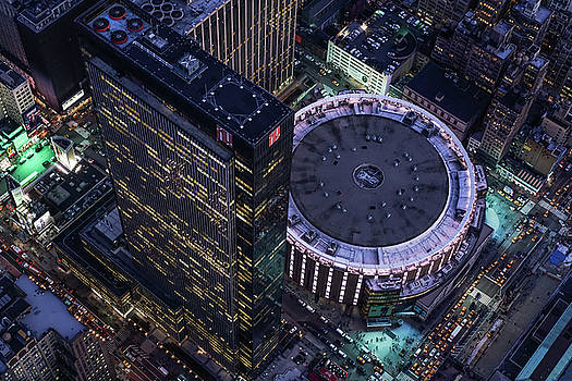 Aerial 1 Penn Plaza and Madison Square Garden by Michael Lee