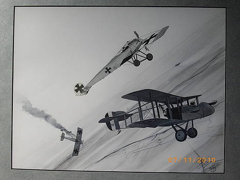 Aerial combat 1916 by Keith Hutchins
