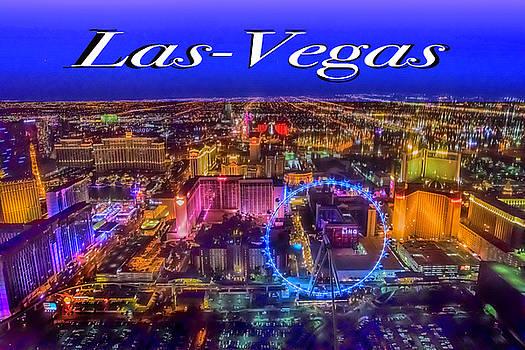 Aerial Las- Vegas Evening by Jodi Jacobson