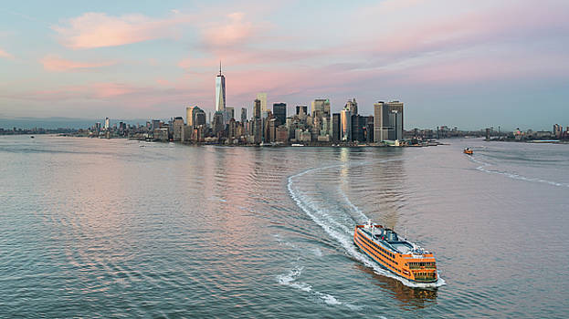 Aerial New York Sunset by Michael Lee
