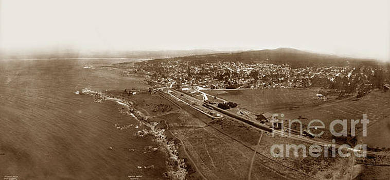 Aerial of Pacific Grove  July 10, 1906 by California Views Mr Pat Hathaway Archives