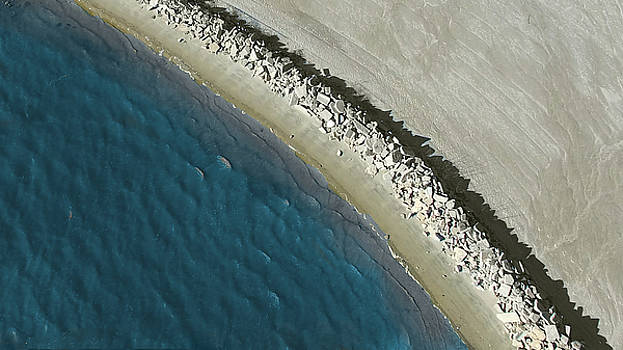 Aerial Shoreline Abstract by Kimberly Blom-Roemer
