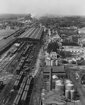 Chicago and North Western Historical Society - Aerial Shot of Clinton Machine Shops