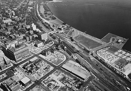 Aerial Shot of Milwaukee - 1961 by Chicago and North Western Historical Society