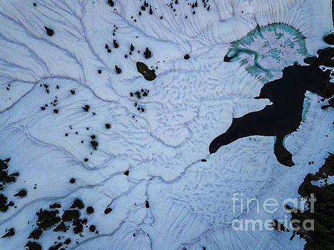 Aerial Snows Melting Abstract by Mike Reid