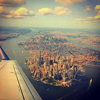 Aerial View NYC by Kathleen McGinley