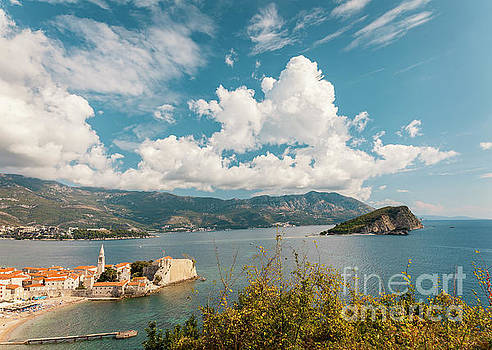 Aerial view of Budva landscape by Sophie McAulay