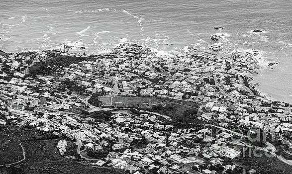 Tim Hester - Aerial View of Camps Bay Black And White