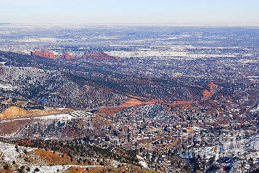 Steve Krull - Aerial View of Manitou and Colorado Springs