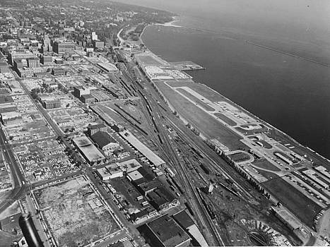 Chicago and North Western Historical Society - Aerial View of Milwaukee Shore Line - 1961