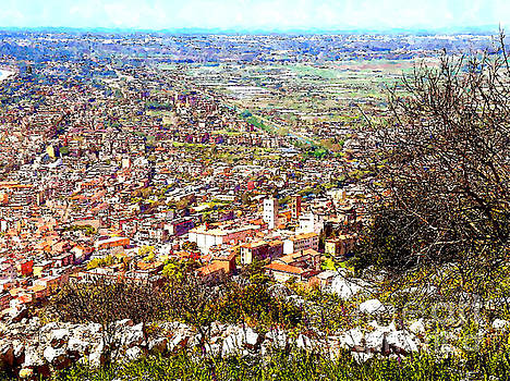 Aerial view of the city by Giuseppe Cocco