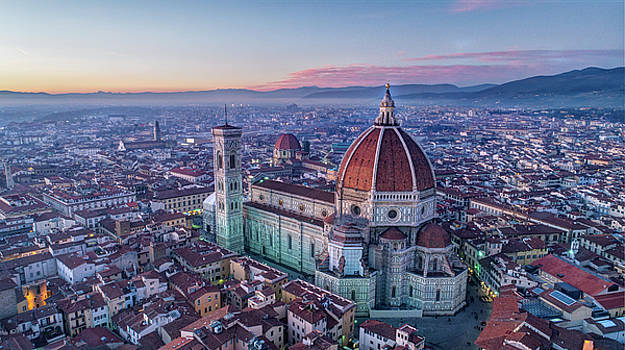 Aerial View of the Duomo of Florence, Italy by Gian Lorenzo Ferretti