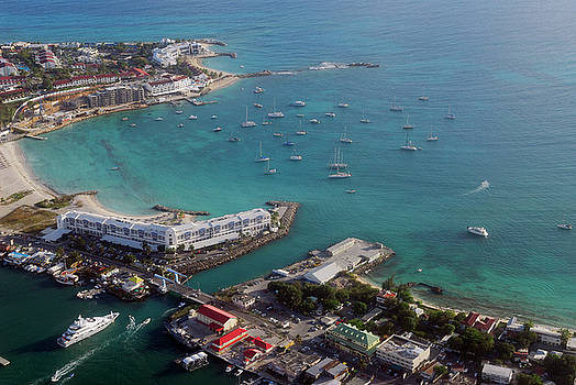 Reimar Gaertner - Aerial view of the Simpson Bay Bridge in St Maarten