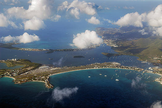 Reimar Gaertner - Aerial view of the Simpson Bay Lagoon and Marigot in St Martin