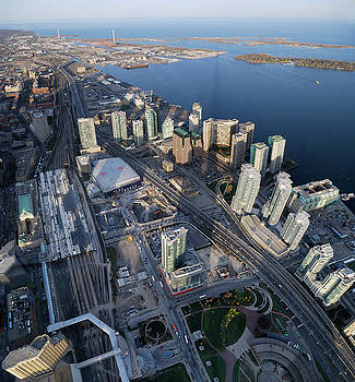 Reimar Gaertner - Aerial view of Toronto Union Station and Harbourfront