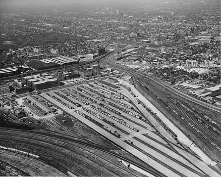 Chicago and North Western Historical Society - Aerial View of Wood Street Yard