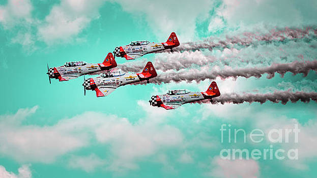 Aeroshell Aerobatic Team by Doug Sturgess