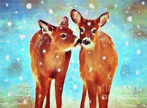 Affectionate Fawns by Tina LeCour