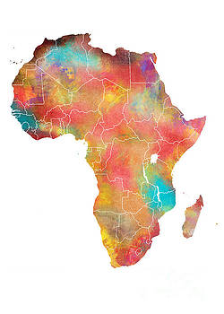 Justyna Jaszke JBJart - Africa Map