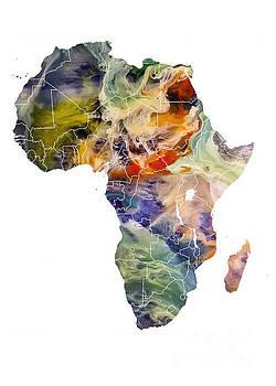 Justyna Jaszke JBJart - Africa map original map