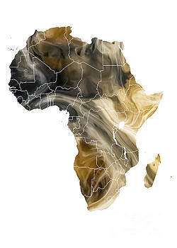Justyna Jaszke JBJart - Africa Map pollution